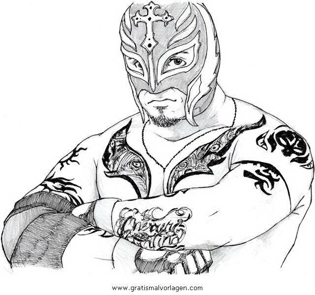 rey mysterio 2 gratis malvorlage in beliebt09 diverse