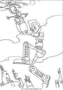 robots 11 gratis malvorlage in comic & trickfilmfiguren