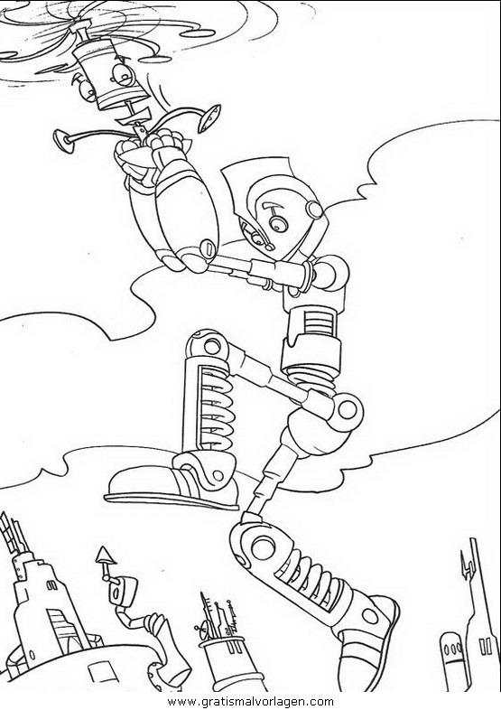 Rayman 11 Gratis Malvorlage In Comic Trickfilmfiguren: Robots 11 Gratis Malvorlage In Comic & Trickfilmfiguren