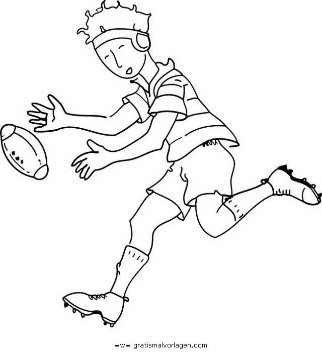 Sendung Maus 09 Gratis Malvorlage In Comic: Rugby 09 Gratis Malvorlage In Rugby, Sport