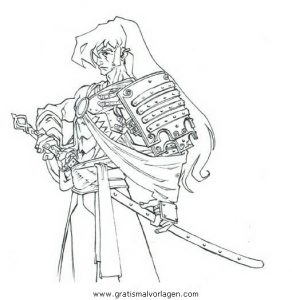 Samurai Gratis Malvorlage In Geografie Japan Ausmalen