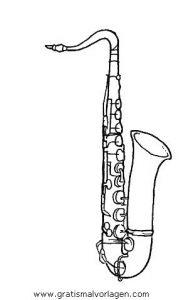 Malvorlage Musik Saxophon 5