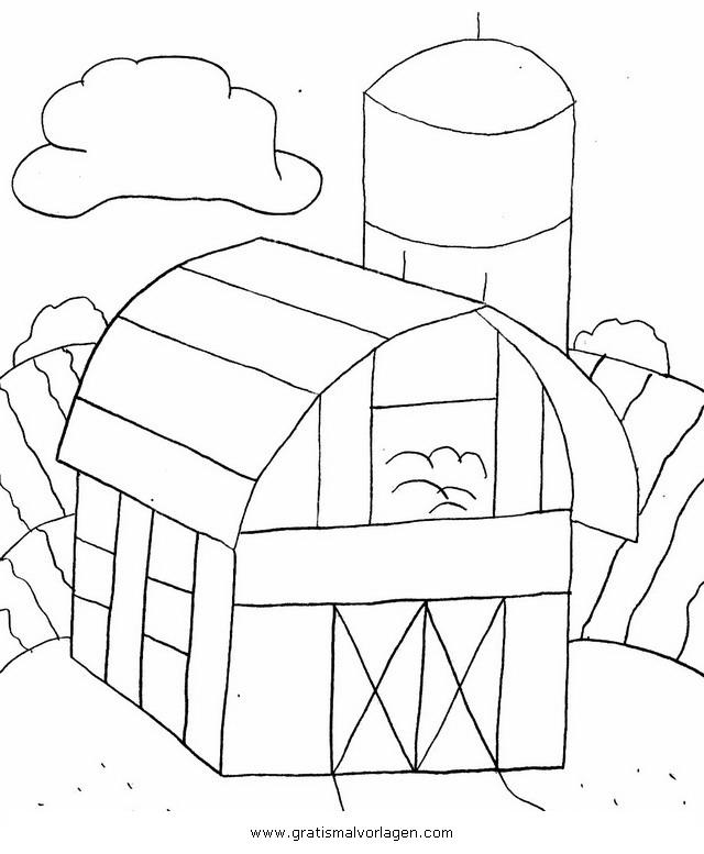 Galupy 1 Gratis Malvorlage In Comic Trickfilmfiguren: Scheune 1 Gratis Malvorlage In Diverse Malvorlagen, Häuser