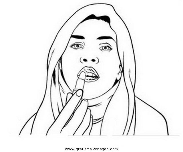 schminken 5 gratis malvorlage in mädchen menschen  ausmalen