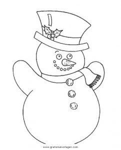 Malvorlage Schneemänner schneemanner 059