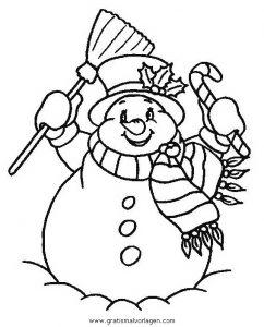 Malvorlage Schneemänner schneemanner 062