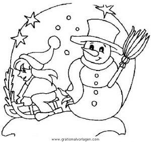 Malvorlage Schneemänner schneemanner 070