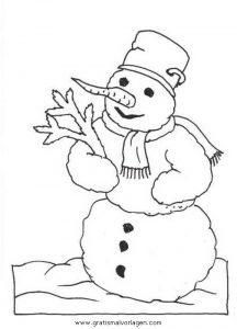Malvorlage Schneemänner schneemanner 076
