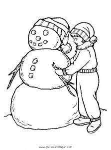 Malvorlage Schneemänner schneemanner 080