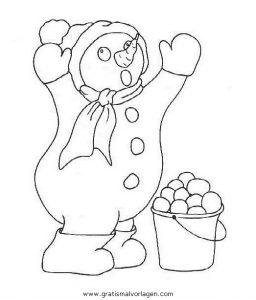 Malvorlage Schneemänner schneemanner 082