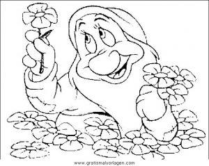 Schneewittchen 34 Gratis Malvorlage In Comic Trickfilmfiguren