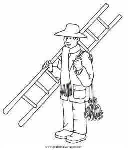 Malvorlage Berufe Handwerk schornsteinfeger 1