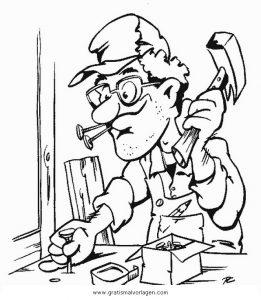 Schreiner 3 Gratis Malvorlage In Berufe Handwerk Menschen Ausmalen