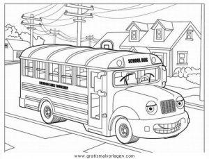 Scuolabus Gratis Malvorlage In Lastwagen Transportmittel Ausmalen