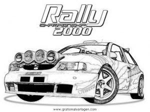 Seat Rally Gratis Malvorlage In Autos2 Transportmittel Ausmalen