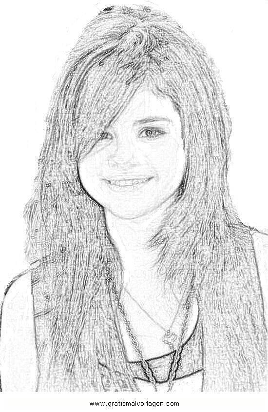 Selena Gomez 6 Gratis Malvorlage In Diverse Malvorlagen