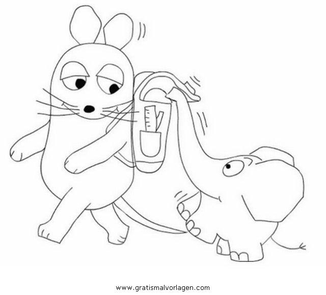 Sendung mit der Maus Malvorlagen zum Ausmalen für Kinder -