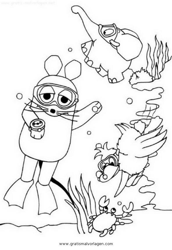 Sendung Maus 23 Gratis Malvorlage In Comic Trickfilmfiguren
