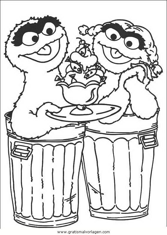 sesame strasse 85 gratis malvorlage in comic