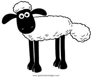 Malvorlage Shaun das Schaf shaun 00