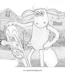 Shaun 02 Gratis Malvorlage In Comic Trickfilmfiguren Shaun Das Schaf Ausmalen