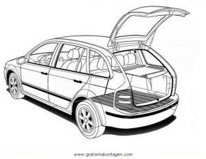 Skoda Fabia Gratis Malvorlage In Autos2 Transportmittel Ausmalen