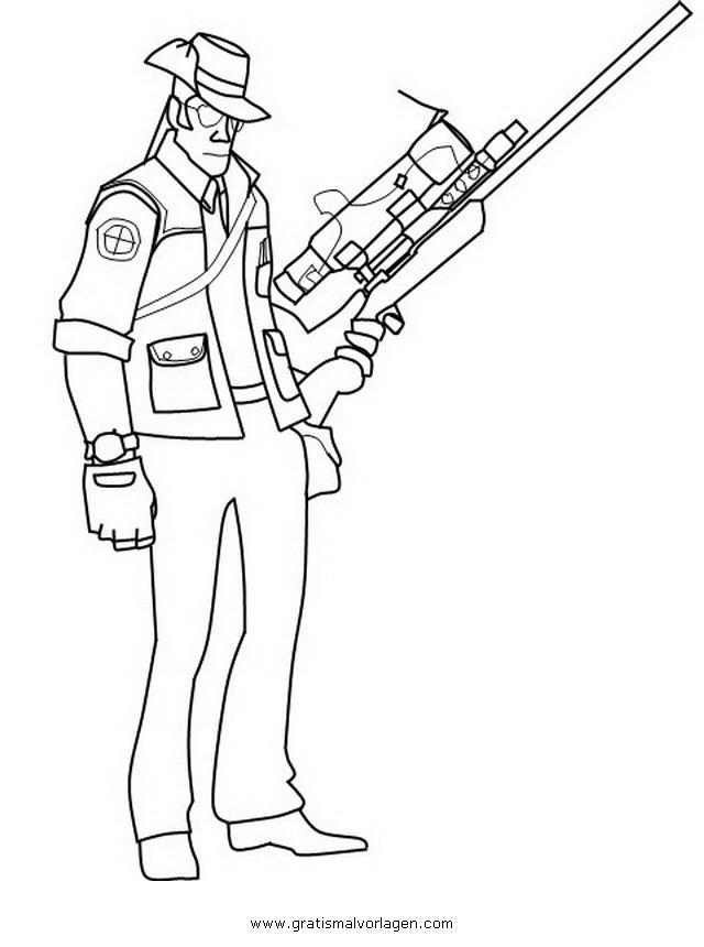 sniper 3 gratis malvorlage in menschen soldat  ausmalen