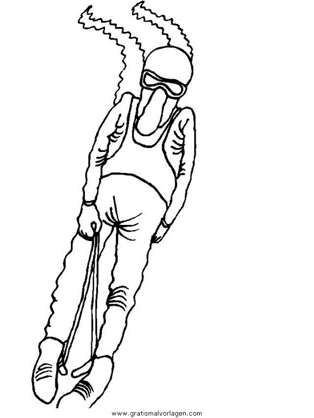 snow board 04 gratis malvorlage in ski sport  ausmalen