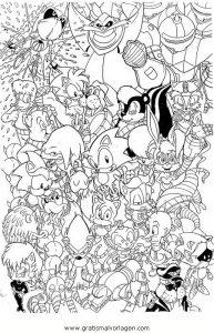 Sonic 04 Gratis Malvorlage In Comic Trickfilmfiguren Sonic Ausmalen