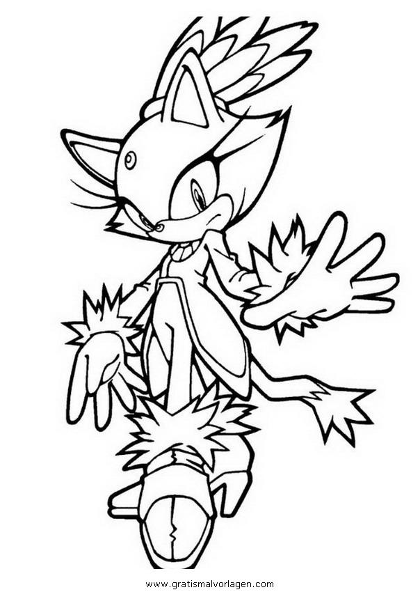 Sonic Blaze 2 Gratis Malvorlage In Comic