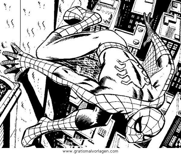 spiderman 02 gratis malvorlage in comic  trickfilmfiguren