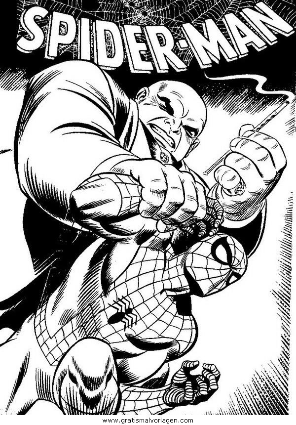 spiderman 03 gratis malvorlage in comic  trickfilmfiguren