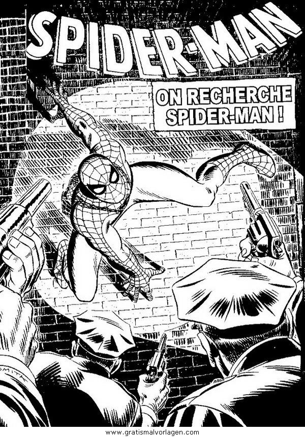 spiderman 04 gratis malvorlage in comic  trickfilmfiguren