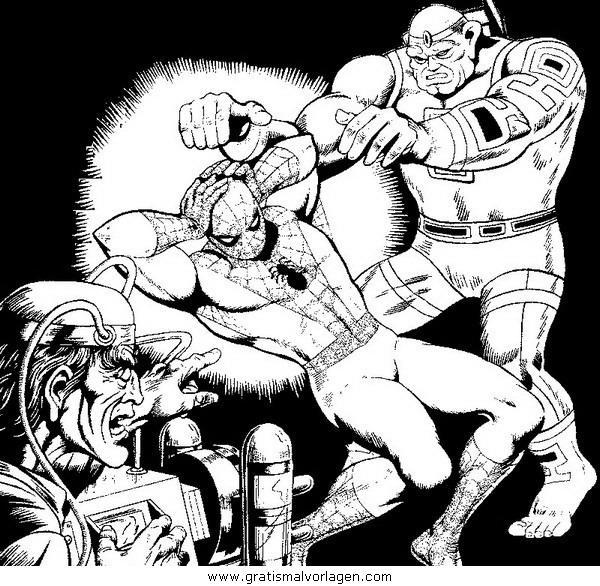 spiderman 06 gratis malvorlage in comic  trickfilmfiguren