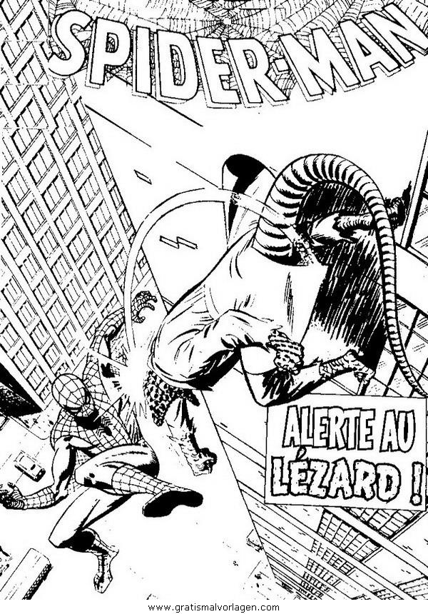spiderman 07 gratis malvorlage in comic  trickfilmfiguren
