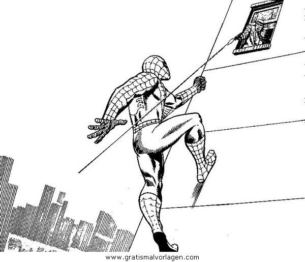 spiderman 08 gratis malvorlage in comic  trickfilmfiguren