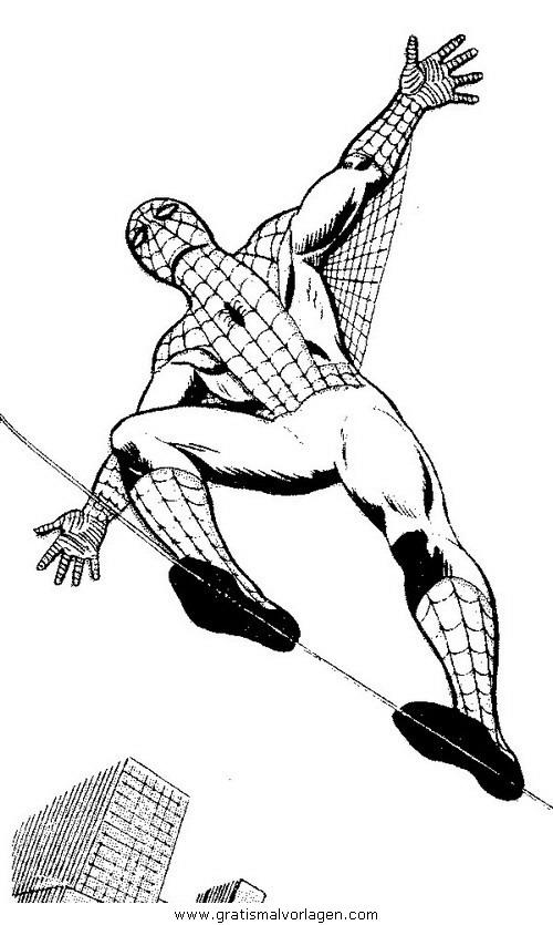 spiderman 09 gratis malvorlage in comic  trickfilmfiguren
