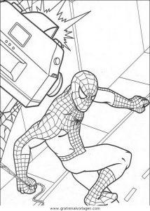 spiderman 12 gratis malvorlage in comic  trickfilmfiguren, spiderman - ausmalen