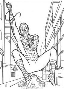 Spiderman 18 Gratis Malvorlage In Comic Trickfilmfiguren