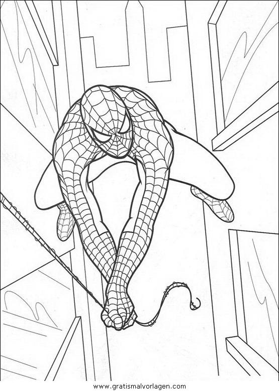 spiderman 19 gratis malvorlage in comic  trickfilmfiguren