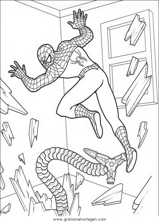 spiderman 33 gratis malvorlage in comic  trickfilmfiguren