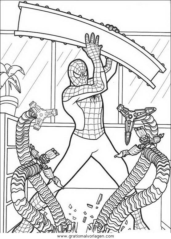 spiderman 34 gratis malvorlage in comic & trickfilmfiguren