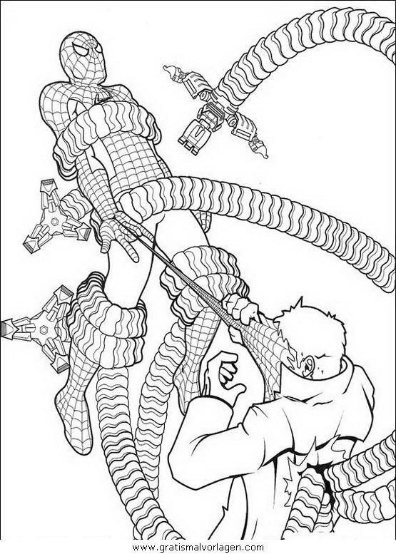 spiderman 43 gratis malvorlage in comic  trickfilmfiguren