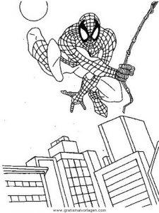 Spiderman 77 Gratis Malvorlage In Comic Trickfilmfiguren