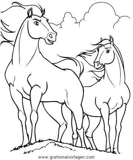 spirit der wilde mustang01 gratis malvorlage in comic