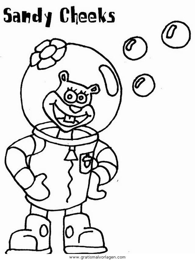 spongebob 28 gratis malvorlage in comic  trickfilmfiguren