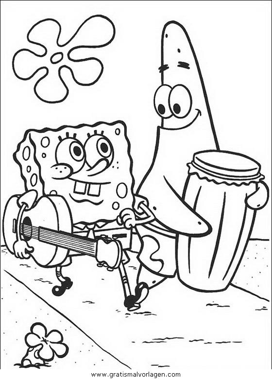 spongebob 62 gratis malvorlage in comic  trickfilmfiguren
