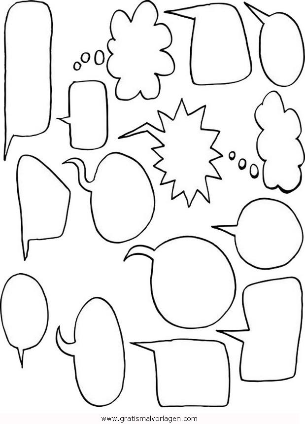 sprechblasen gratis Malvorlage in Beliebt13, Diverse Malvorlagen ...