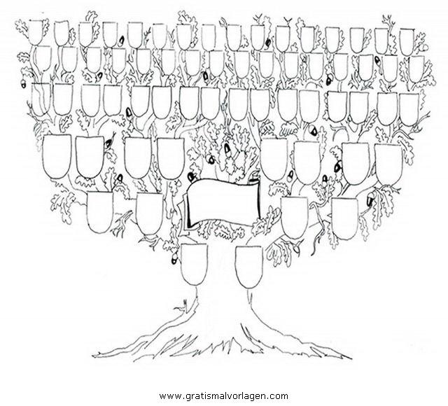 Stammbaum gratis malvorlage in beliebt08 diverse for Stammbaum zum ausdrucken