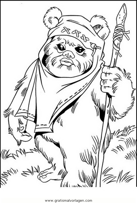 Starwars Ewoks 1 Gratis Malvorlage In Science Fiction Star Wars